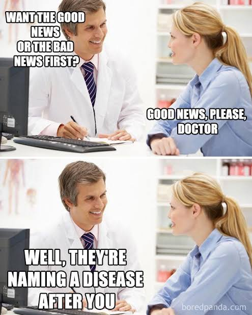Funny doctor memes, funny medical memes, is there a doctor in the house, funny medical jokes, funny doctor-patient pictures.