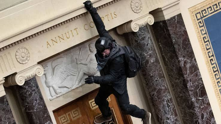Josiah Colt, rioter hanging from balcony, man hanging from senate balcony, Capitol riot, Josiah B. Colt