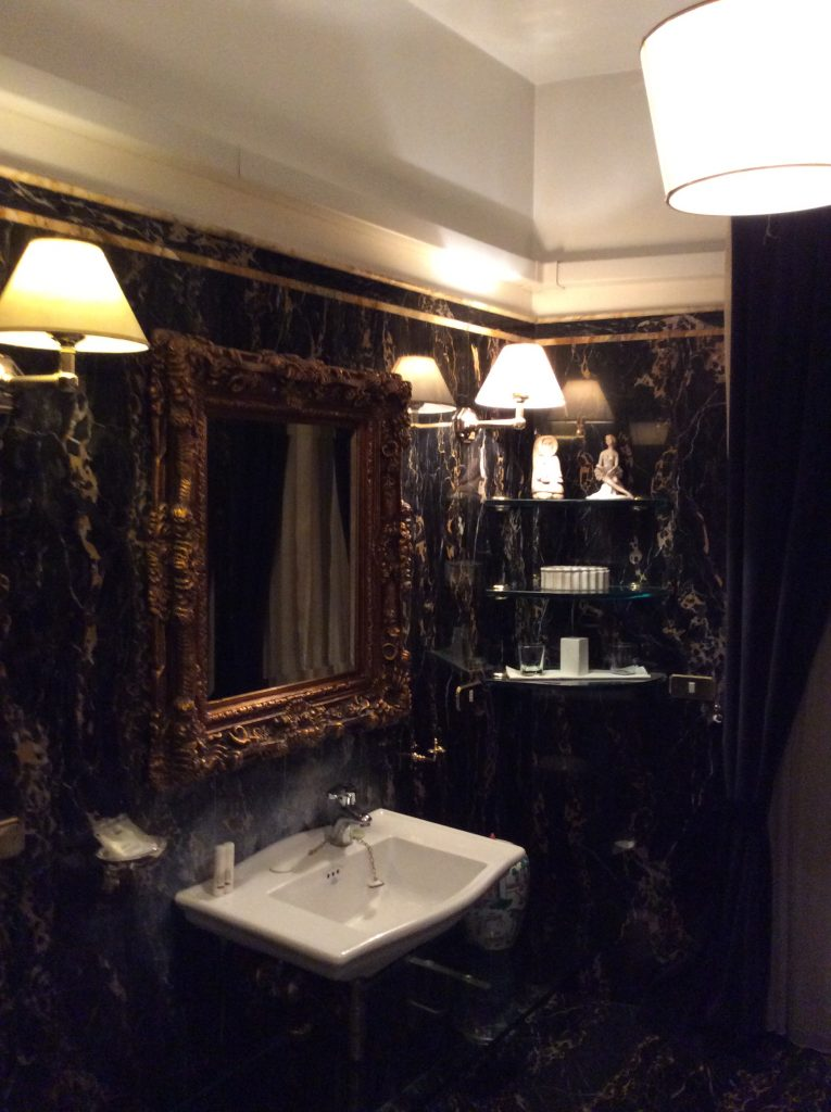 View of bathroom at di Rienzo Palace, Rome