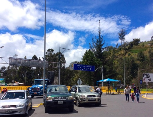 View of the border crossing at Rumichaca, Colombia-Ecuador