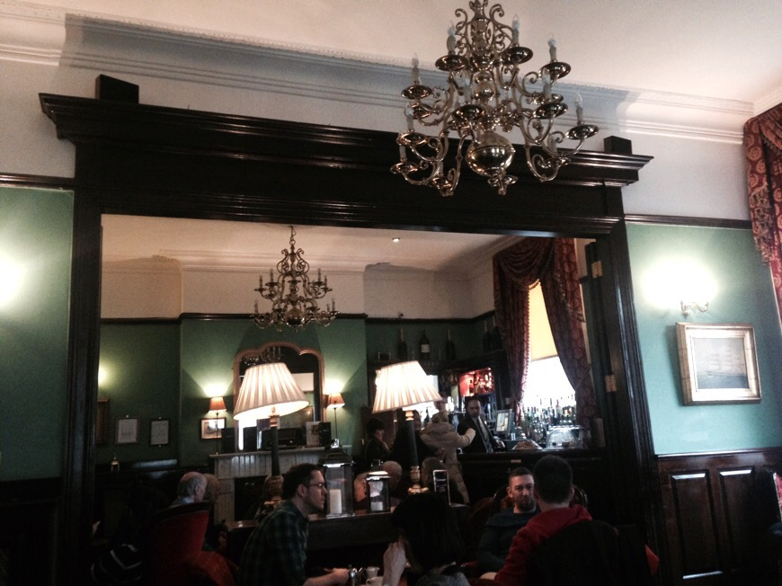 Interior view of the Central Bar in Dublin, Ireland