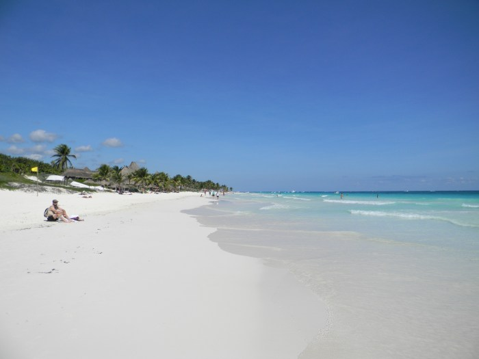 The beach in Tulum was paradise.