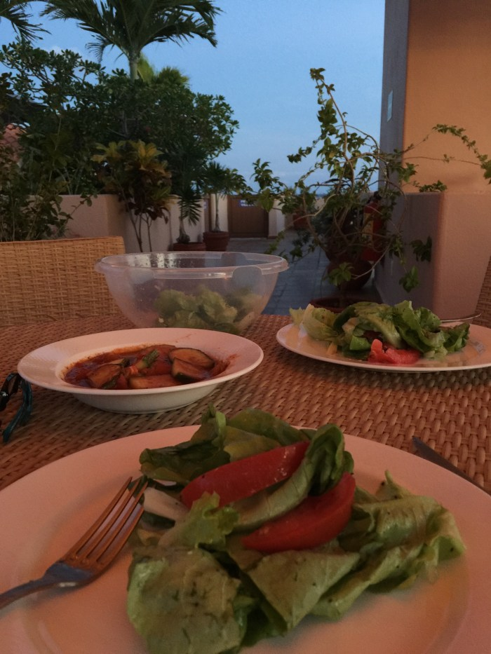 Dinner prepared by Nick on the rooftop terrace at The Acanto Boutique Hotel