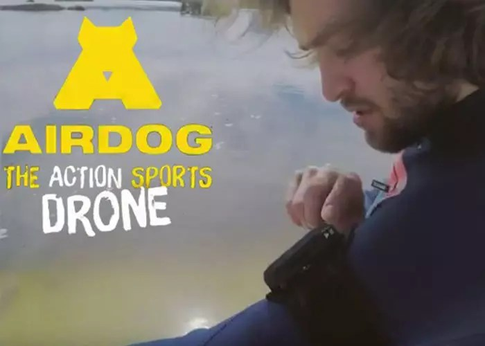 Airdog Drone & Pro wakeboarder