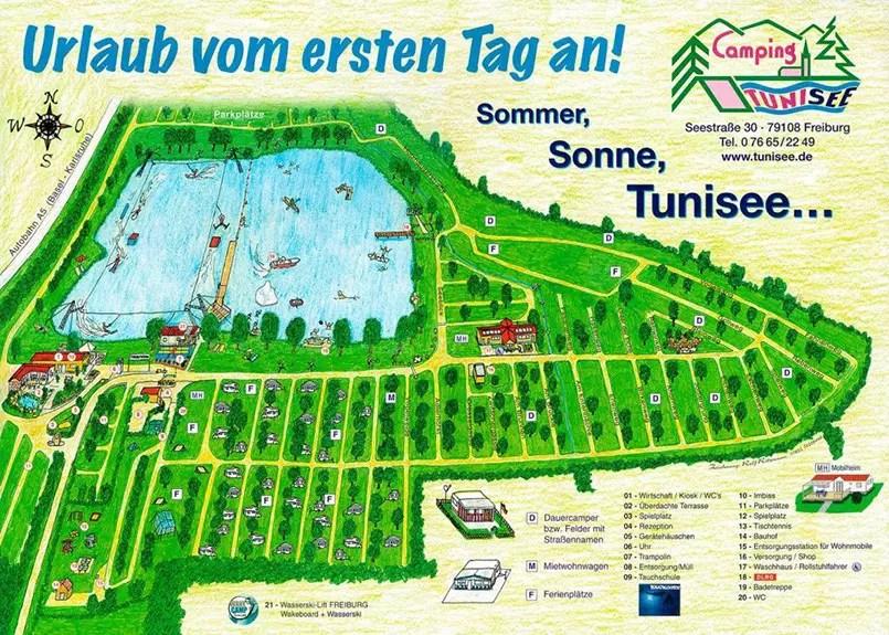 Wakepark-Tunisee