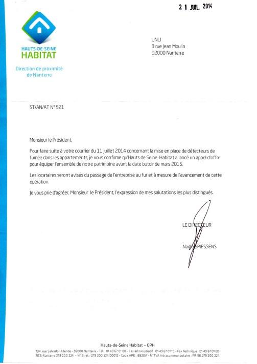 14-1à10 - Détecteurs de fumées (Hauts-de-Seine Habitat)