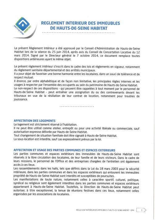 Règlement intérieur Hauts-de-Seine Habitat
