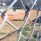 My baby is out here stealing bases #baseballmom
