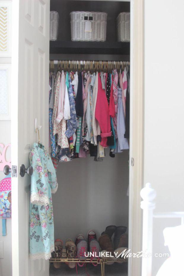 Girls Closet Makeoverunlikely Martha