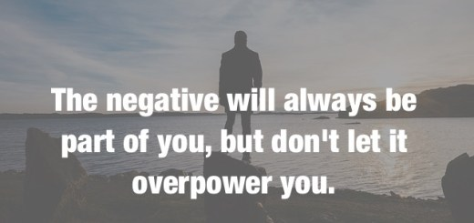 the power of negativity