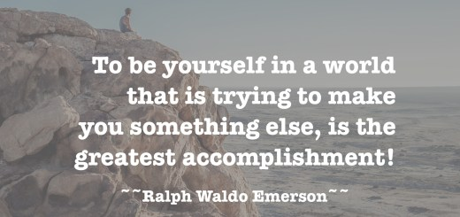 Be Authentic Ralph Waldo Emmerson