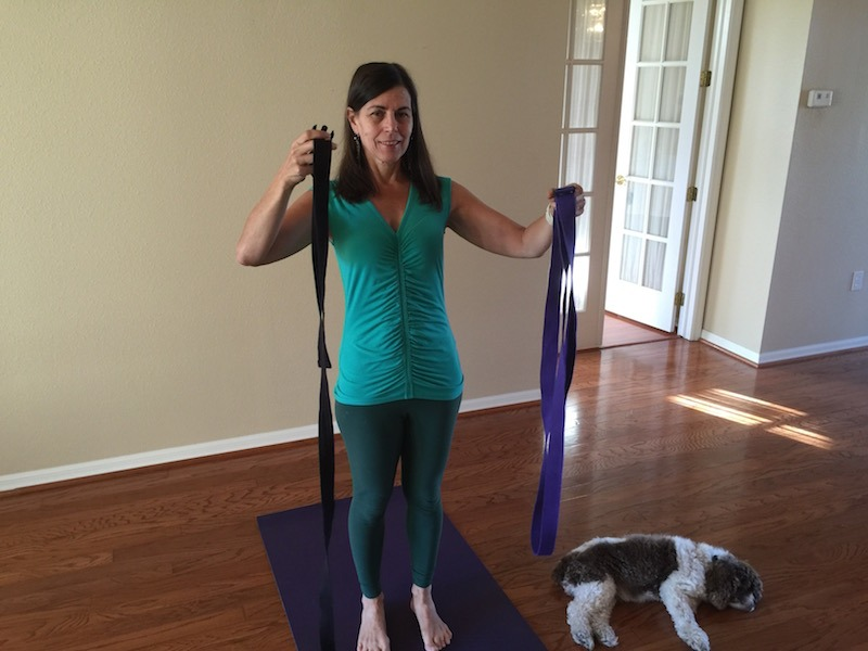Two Yoga Belts, One With A Big Loop