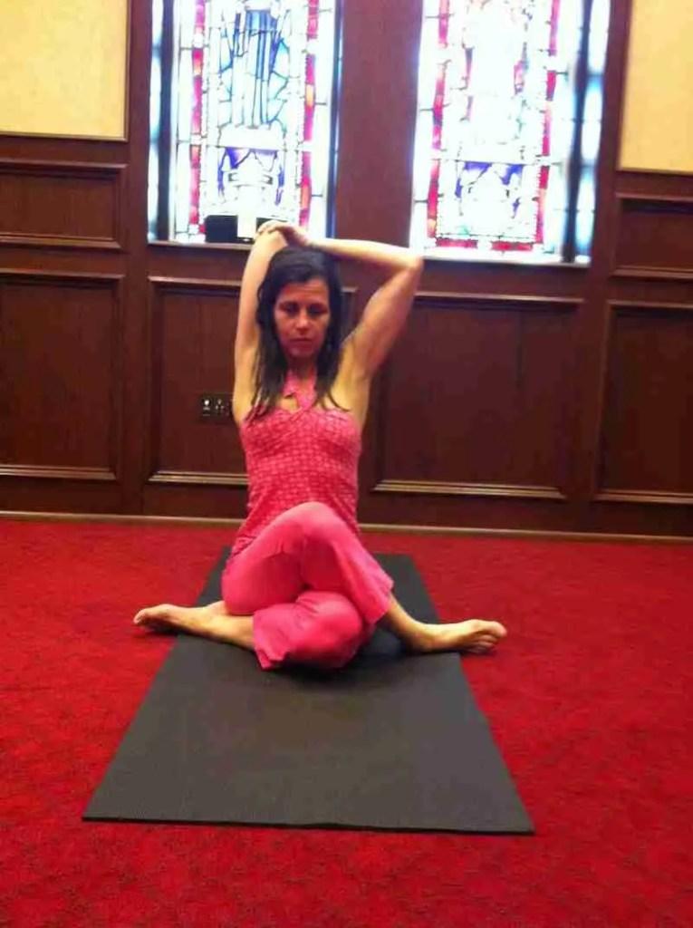 External Rotation Shoulder Stretch Catherine Carrigan Yoga Teacher