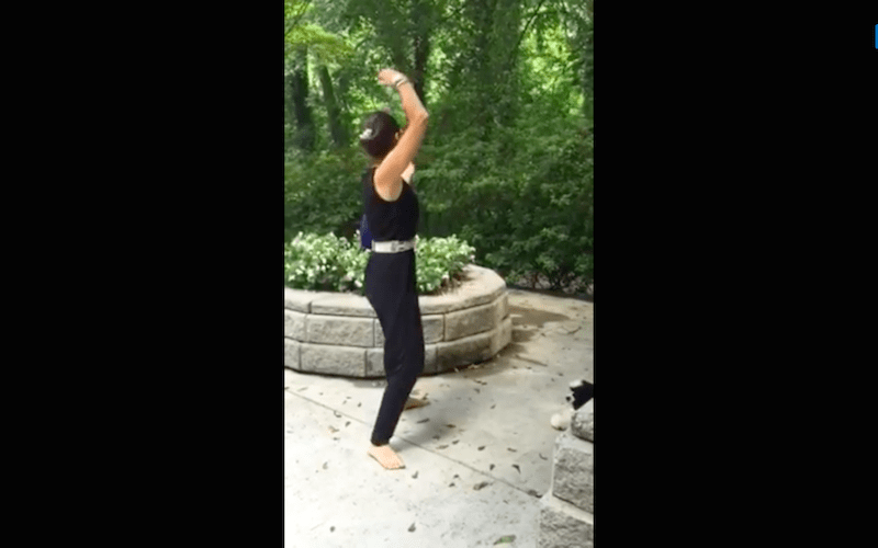"""Bend Arms Overhead Like A Rainbow: Qi Gong Exercise 3"""