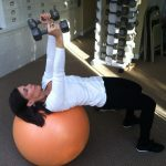 Triceps Extension Lying On Ball