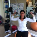 Shoulder Press Seated On Swiss Ball