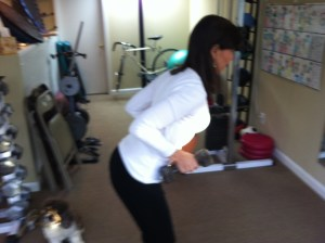 Bent Over Row With Dumbbells