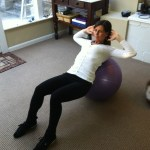 Ab Crunch On Swiss Ball