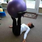 Supine Swiss Ball Twist