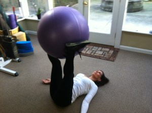 Inner Thigh Swiss Ball Twist