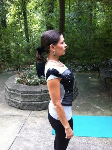 Lift your chest, pull shoulder blades towards your waist