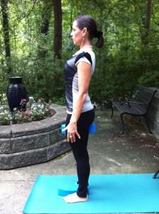 Posture correction with yoga eggs