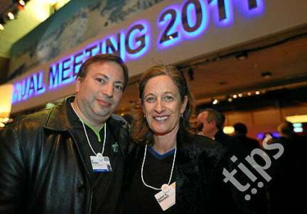 Isabel Maxwell and Al Seckel at the World Economic Forum's 2011 Annual Meeting