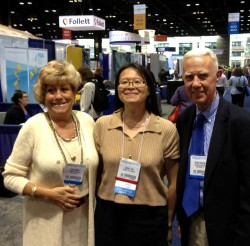 Iris Hanney, Genny Jon, and Peter Stevens at ALA Annual 2013 in Chicago.