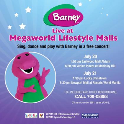 Barney Live at Megaworld Lifestyle Malls