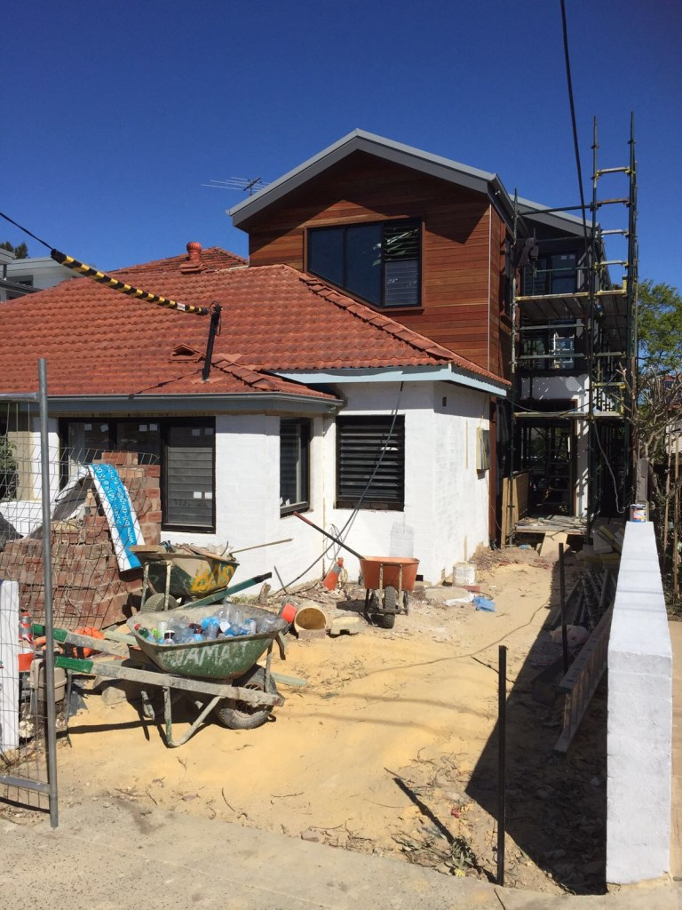 House renovation is underway in Maroubra, in Sydney's Eastern Suburbs
