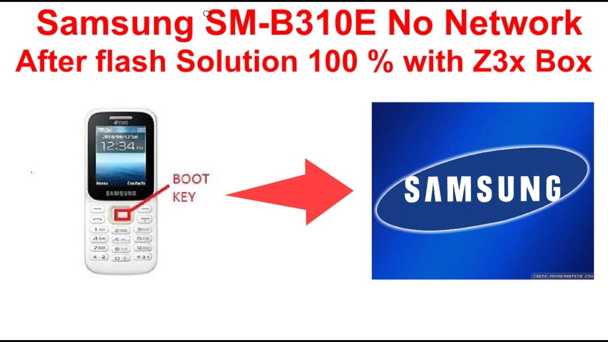 Samsung SM-B310E no network after flash Solution 100 % with Z3X BOX