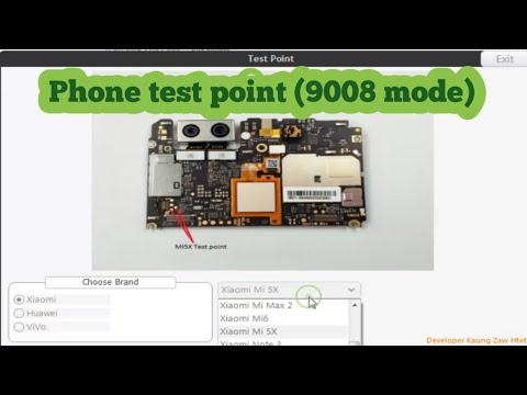 Phone test point (9008 mode) Xiaomi Huawei Vivo (edl mode)