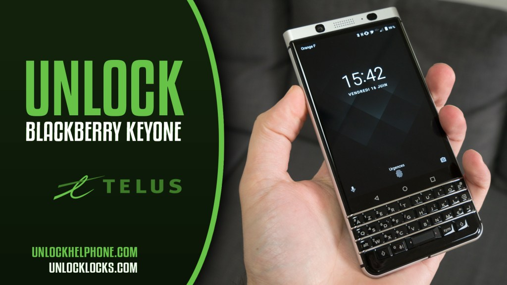 How to Unlock Blackberry KEYone For Telus Mobile Canada