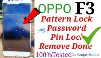 Oppo f5 youth (CPH1725) Flash Hard Reset Pattern Unlock