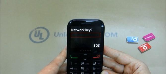 How To Unlock Alcatel One Touch 20.00 (OT-2000, OT-2000X and OT-2000D) by unlock code.