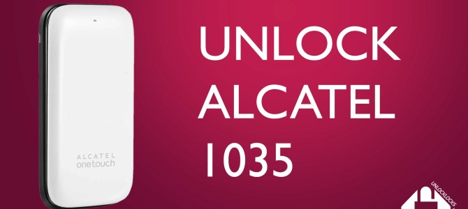 How To Unlock Alcatel ONETOUCH 1035 (OT-1035X, OT-1035A and OT-1035D) by Unlock Code.