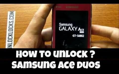 How To Unlock Samsung GALAXY Ace DUOS S6802 ?