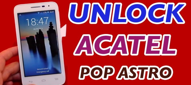 How To Unlock MetroPCS and T-Mobile Alcatel OneTouch POP Astro (5042T & 5042N) by Unlock Code.