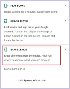 Alcatel Phone mobile - Erase Option