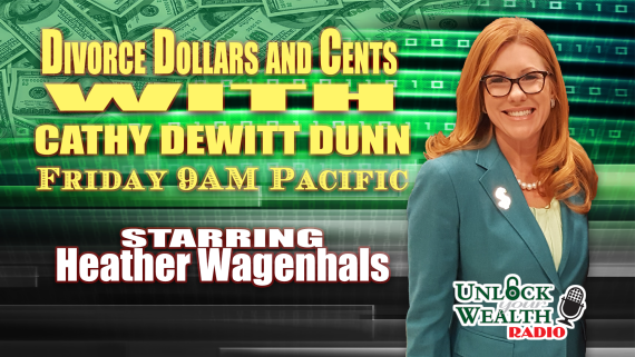 divorce dollars and cents with Cathy DeWitt Dunn on Unlock Your Wealth Radio starring Heather Wagenhals