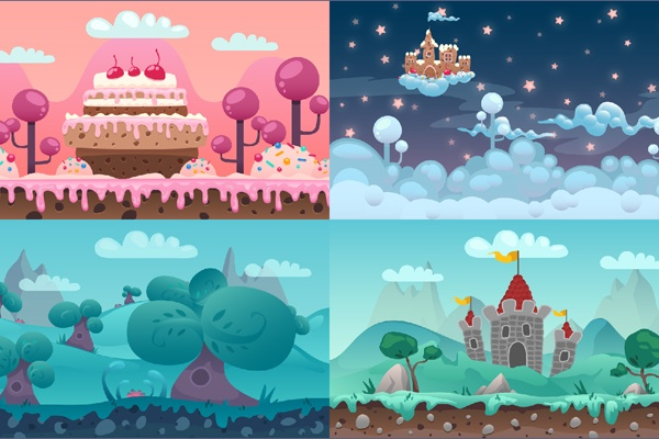 11 Free Game Backgrounds | UnLucky Studio