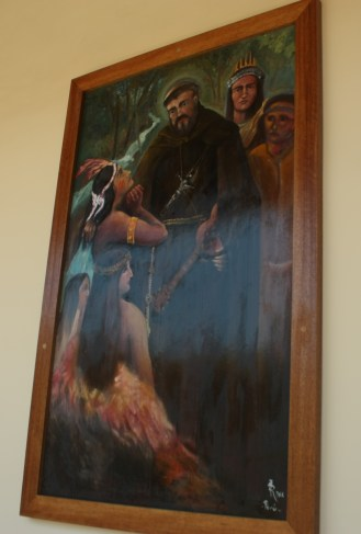 Representación de la evangelización.