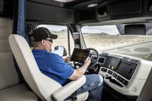 daimler driverless truck, interior
