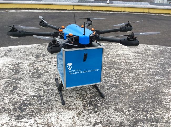 German Cargo Drones Delivering Blood Samples