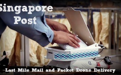 Singapore Post (SingPost) Delivers Mail by Drone