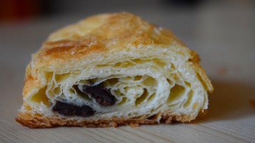 Inside one of the Chocolate Croissants