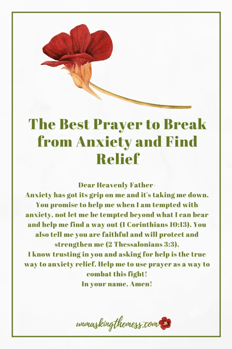The Best Prayer to Break from Anxiety and Find Relief. Anxiety is a chain that keeps you bound. It can overcome your life. Here is a prayer to help you break from anxiety and find relief!