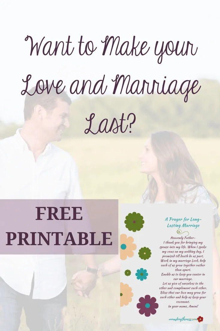 Want your marriage last