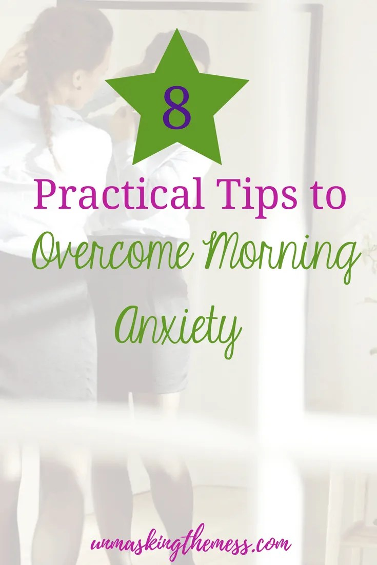 8 Practical Tips to Overcome Morning Anxiety. Morning anxiety is a common phenomenon in anxiety sufferers. It's anxious feeling upon waking or within a few hours after waking. #morninganxiety #anxiety #anxietyrelief #overcominganxiety