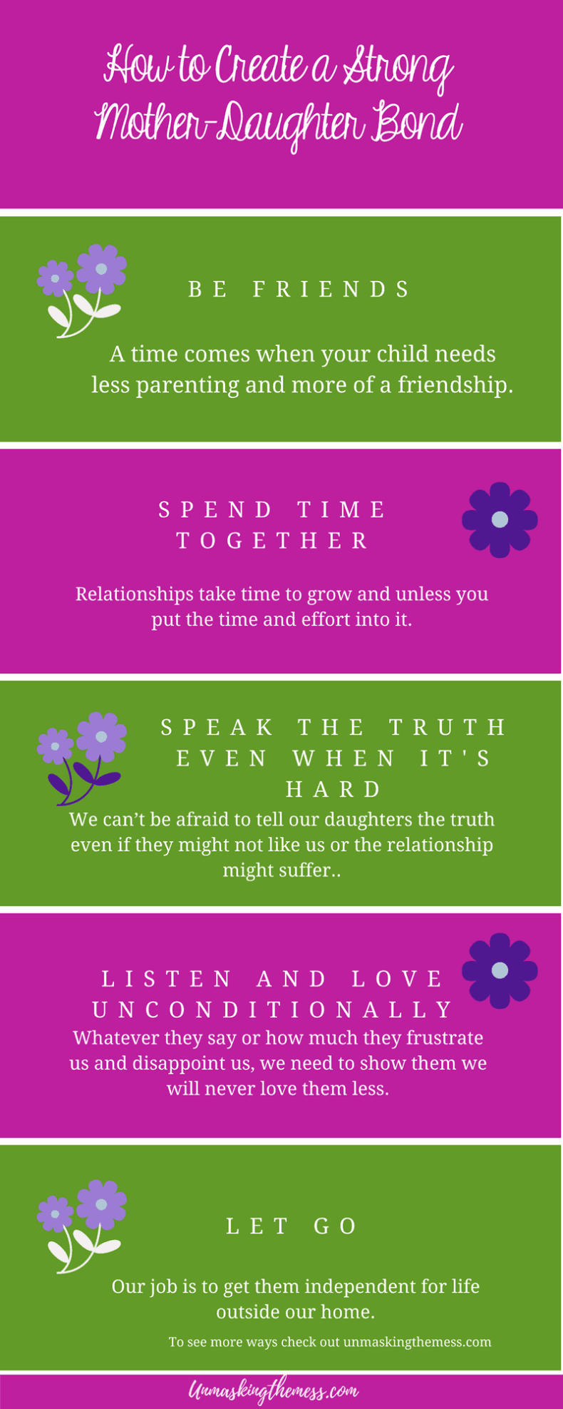 The Best Ways to Create a Strong Mother Daughter Bond. To create this mother daughter bond, I had to start with the end in mind. This relationship would take time, investment and intentionality. #ideas #moms #truths #quotes